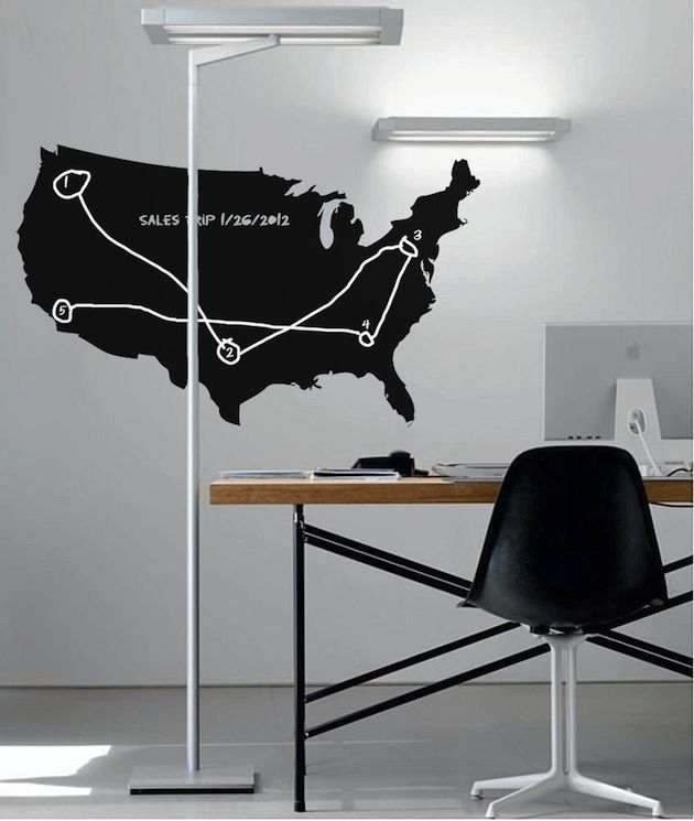 Best Chalkboard Wall Decals Images On Pinterest Chalkboard - Us map chalkboard