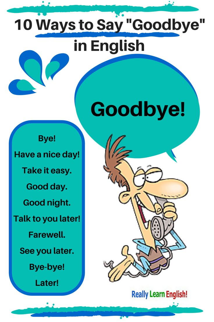 10 Ways to Say Goodbye in English (formal and informal) -           Chesapeake College Adult Ed. offers free classes on the Eastern Shore of MD to help you earn your GED - H.S. Diploma or Learn English (ESL) .   For GED classes contact Danielle Thomas 410-829-6043 dthomas@chesapeke.edu  For ESL classes  contact Karen Luceti - 410-443-1163  Kluceti@chesapeake.edu .  www.chesapeake.edu