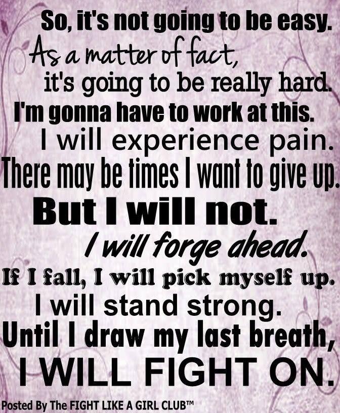 I will fight on...Life with Fibromyalgia/ Chronic Illness