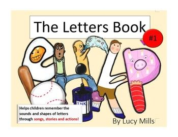 BEST letters book ever!!! Teaches kids sounds of letters through clever pictures, songs and actions. #phonics #esl #English #book English Activity for Kids. #kids #activity #esol #reading #writing #handwriting #letters #abc