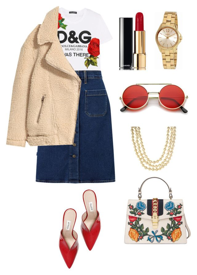 """On the streets of Rome"" by csmarcsi on Polyvore featuring Dolce&Gabbana, Levi's, Attico, ZeroUV, Chanel, Gucci and DKNY"