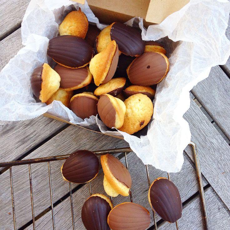 Madeleines au chocolat, la recette de Guillemette adaptée au thermomix. Cmesgouts cuisine thermomix