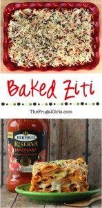Best Baked Ziti Recipe Ever from TheFrugalGirls.com