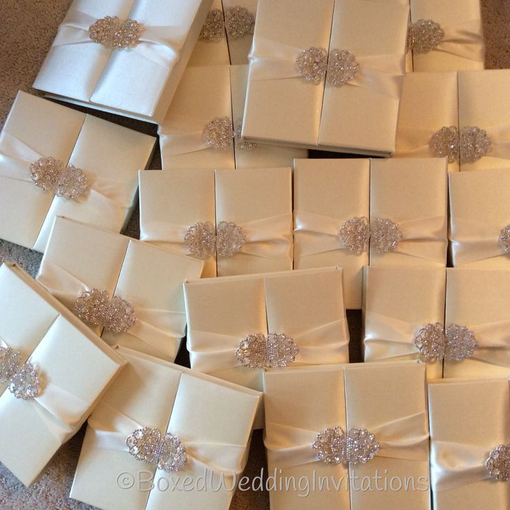 from Boxed Wedding Invitations Ivory silk