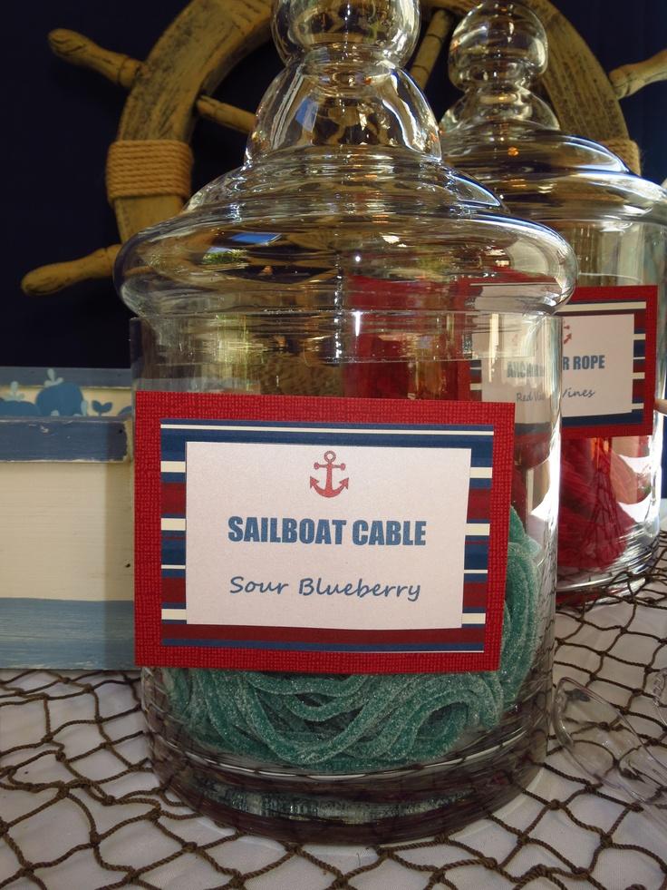 Sailboat Cable- Nautical Baby Shower by OC Sugar Mama
