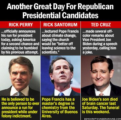 Pic Of The Moment: Another Great Day For Republican Presidential Candidates - Democratic Underground