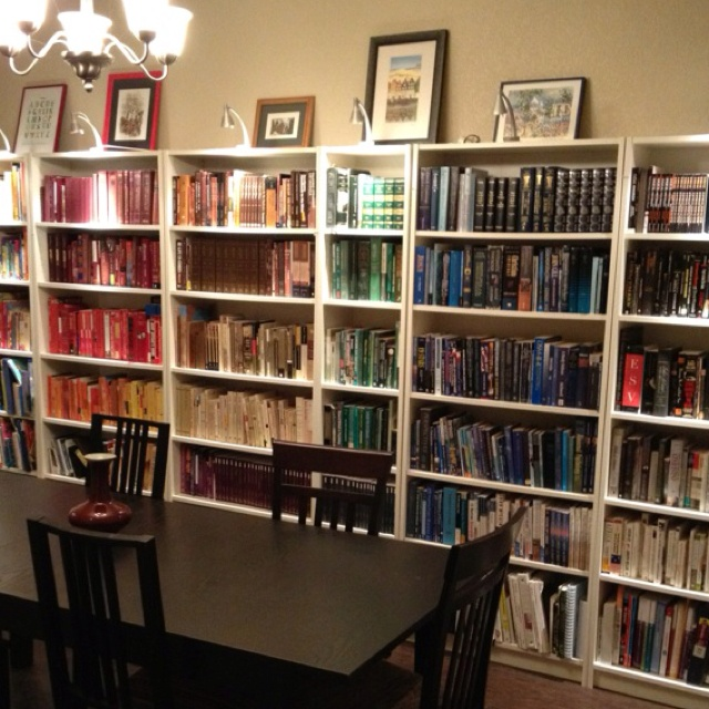 My library dining room for the home pinterest for Dining room library