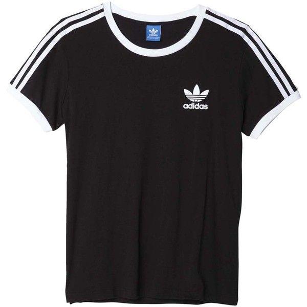 adidas originals 3S Tee ($25) ❤ liked on Polyvore featuring tops, t-shirts, adidas originals tee, adidas originals, 80s t shirts, 80s tops and 1980s t shirts