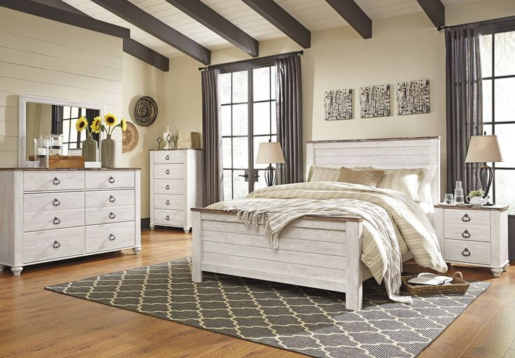 Willowton Panel Bedroom Set by Ashley - Home Gallery Stores