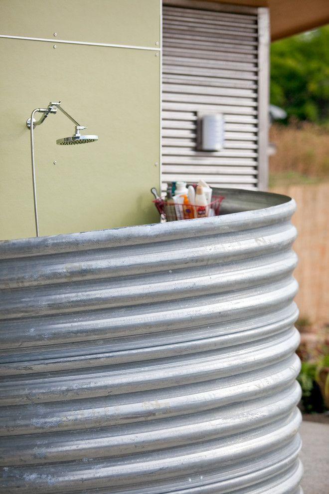 Rustic backyard ideas patio industrial with outdoor shower metal pipe metal pipe |