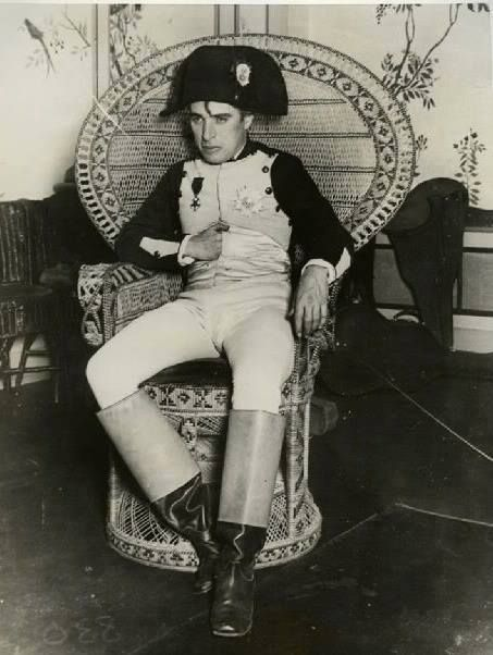 Charlie Chaplin as Napoleon at a costume party given by William Randolph Hearst and Marion Davies in the 1920's. https://www.google.co.uk/search?q=Douglas+Fairbanks,+Mary+Pickford,+William+Randolph+Hearst+%26+Charlie+at+a+Hearst+and+Marion+Davies+1920's+costume+party.&biw=1366&bih=622&tbm=isch&tbo=u&source=univ&sa=X&ei=gaQOVcTwF43aaomPguAP&ved=0CDEQ7Ak&dpr=1