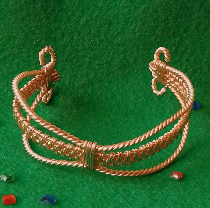 Copper Wire Wrapped Bangle Bracelet by LouisesEclecticCraft on Etsy
