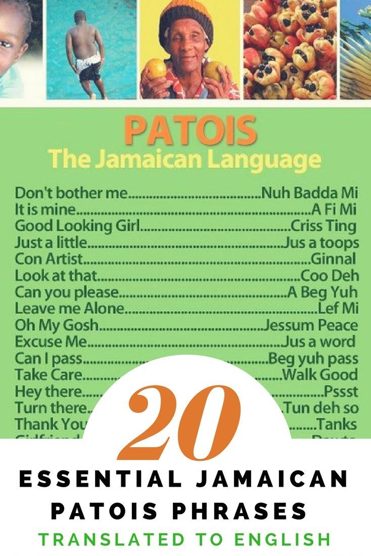 Jamaican Patois Phrases Translated