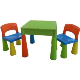 Buy Building Block PLay Top Table & Chairs Set- Multicoloured at Argos.co.uk - Your Online Shop for Children's outdoor furniture. £51