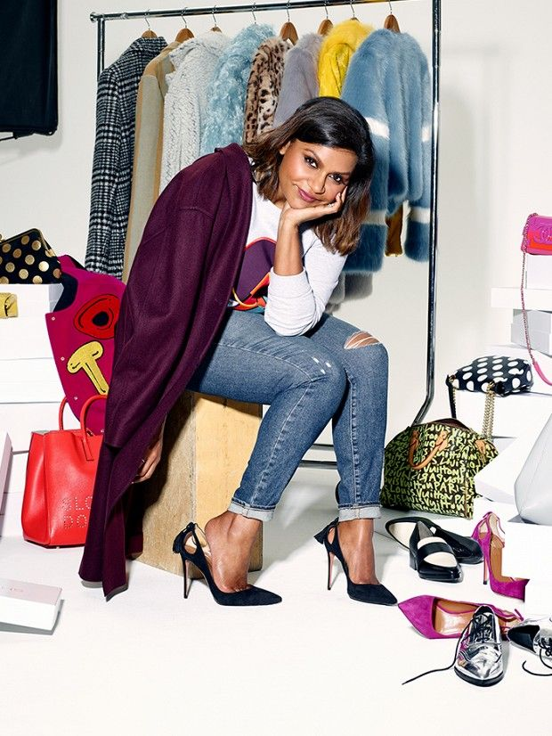 Mindy Kaling's Guide to Fall's Coolest Wardrobe Essentials. #shopping #wardrobeessentials