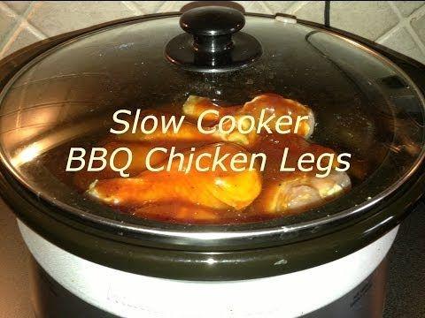 Slow Cooker BBQ Chicken Legs