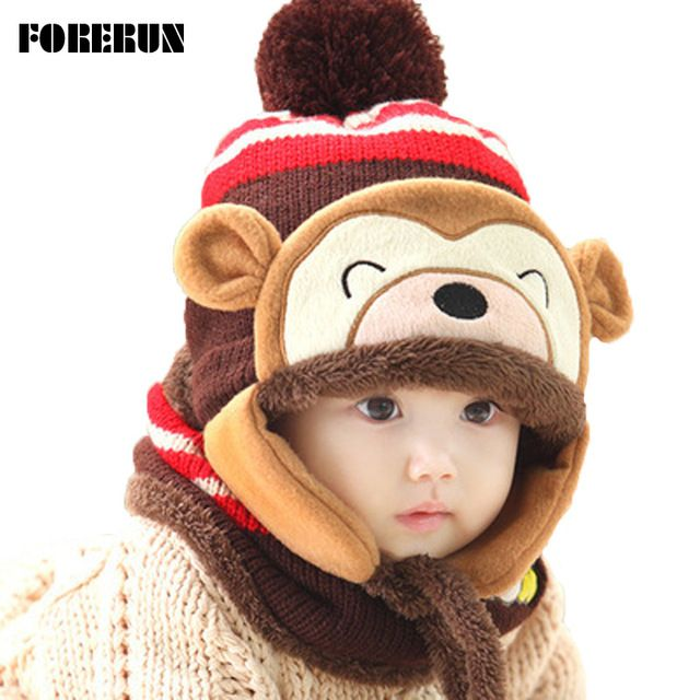 We love it and we know you also love it as well 2016 Animal Hat Scarf Set Kids Monkey Cap Velvet Bonnet Bomber Hat Cute Winter Hat Knitted Caps Girls Warm Winter Hats for Boys just only $7.59 with free shipping worldwide  #babyboysclothing Plese click on picture to see our special price for you