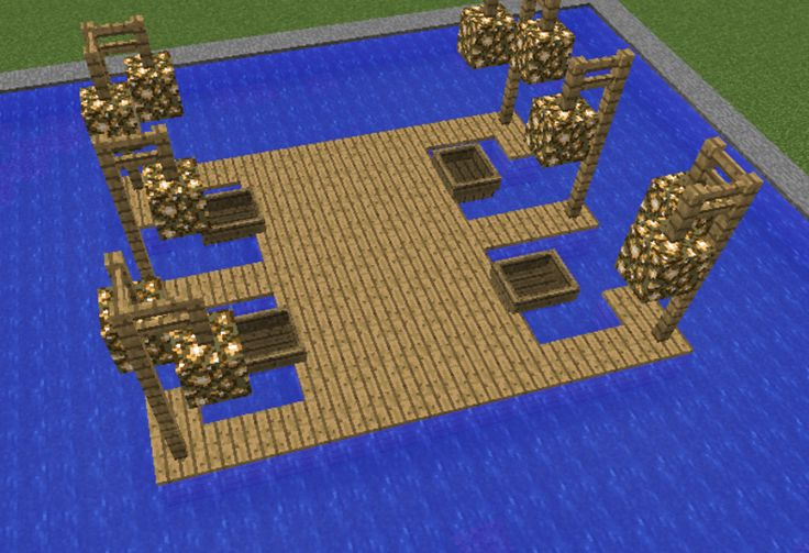 Boat Dock - GrabCraft - Your number one source for MineCraft buildings, blueprints, tips, ideas, floorplans!