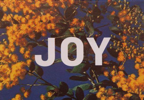 E&W JOY Card - wattle print