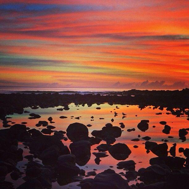 dreamy sunset at Burleigh Heads #Queensland #Australia