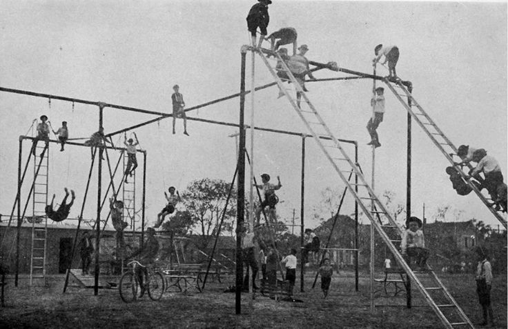 How We Came to Play: Pictures of Kids Enjoy Dangerous Playgrounds in the Early 20th Century