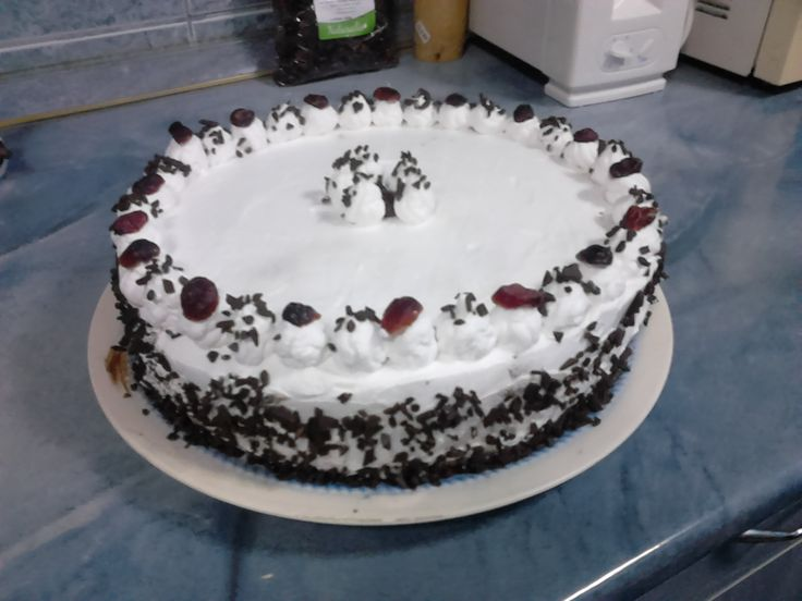 Black forest cake for my mother's b'day  i love it !
