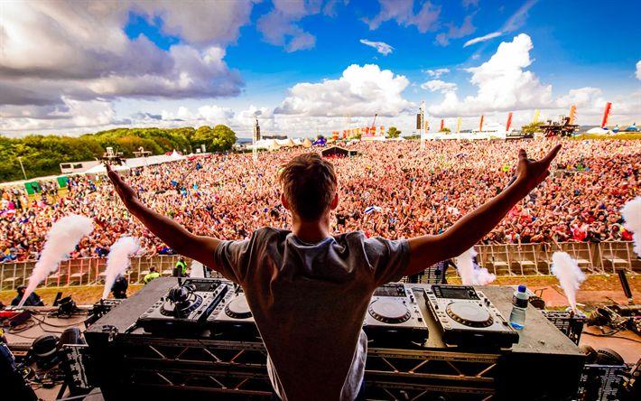 Download wallpapers Calvin Harris, Concert, Scottish DJ, musician, DJ mixer