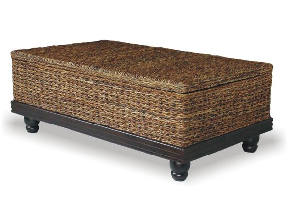 It's not that often that I feel inspired to pin Woot items, but on Home.Woot there's this storage coffee table that I would not at all mind having in my living room. It's the design I like. It's supposedly made of eco-friendly materials from Indonesia – abacca fiber and mahogany – but the use of Indonesian mahogany is questionable at best.