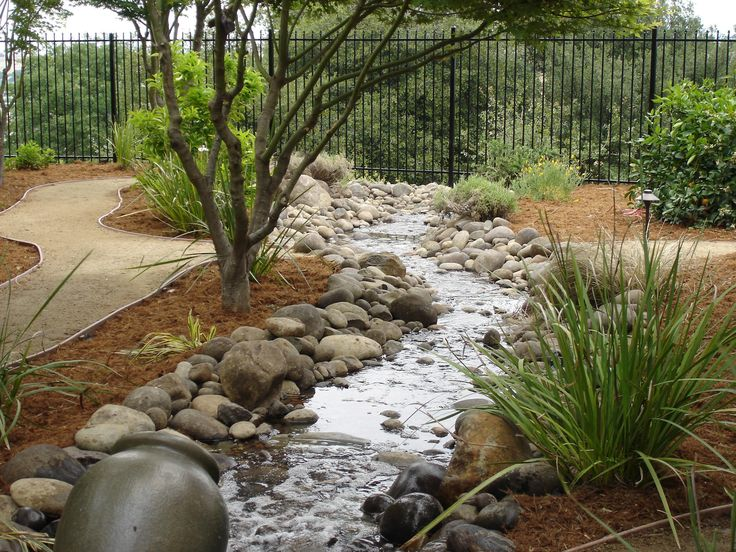 unbelievable dry creek bed landscaping ideas. landscaping with water  Water Features for the Garden From Dry Creekbed to Feaure 234 best Creek Beds images on Pinterest Landscaping ideas