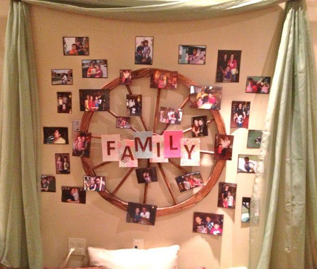 Integrating Family photos in the cozy corner. Rich wheel symbolism. Reggio Emilia: Families - Fairy Dust Teaching