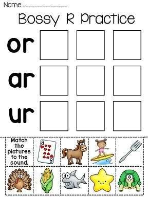 Bossy R worksheets that make practicing R controlled vowels really fun ...