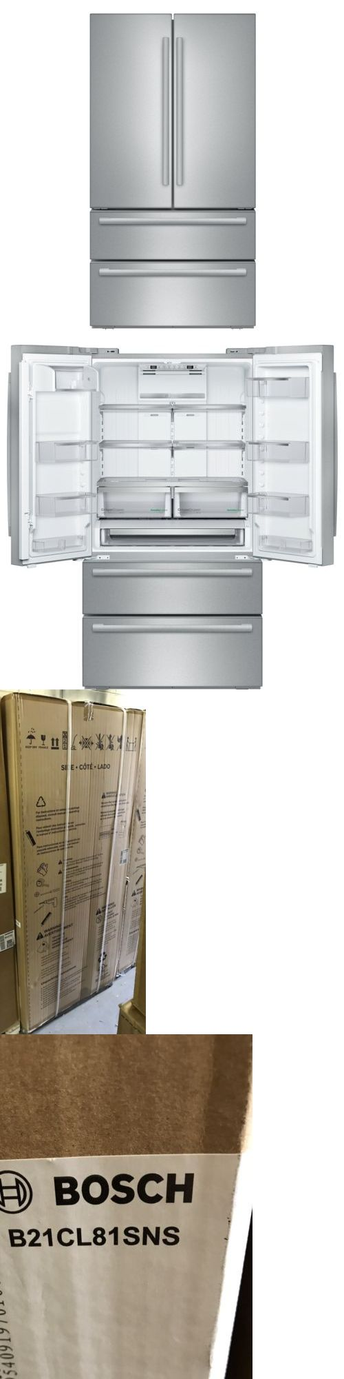 Refrigerators 20713: Bosch 36 Stainless Steel French Door Counter-Depth Refrigerator B21cl81sns -> BUY IT NOW ONLY: $1999 on eBay!