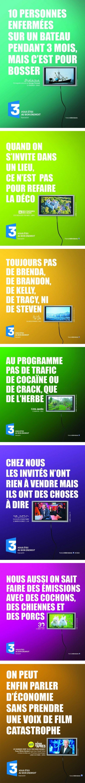 Les affiches de France 3: des cochons, des chiennes et des porcs ! - agence Australie