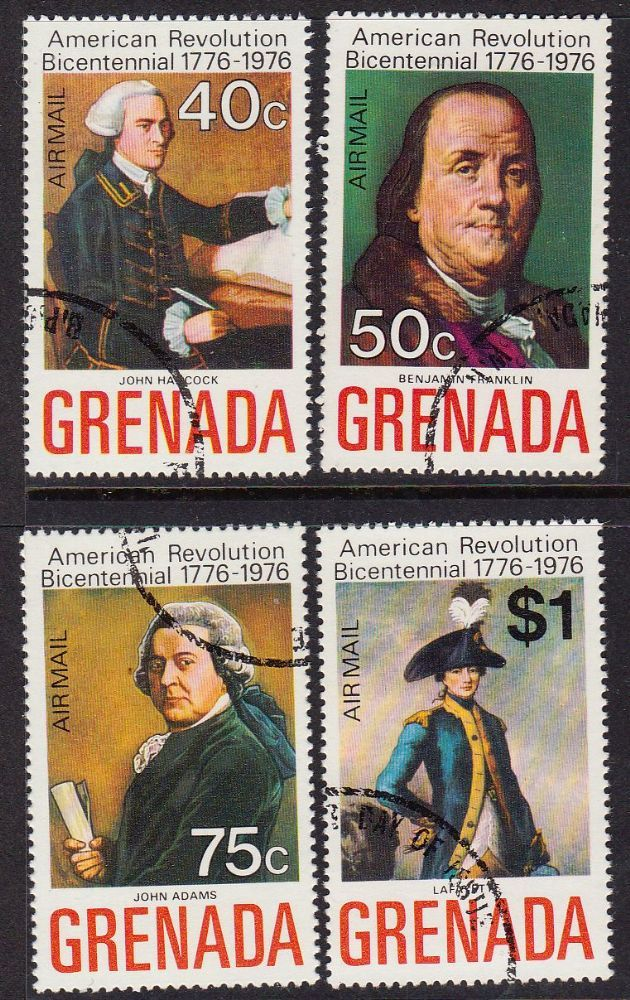 Grenada 1975 American Revolution Set Fine Used SG 700 3 Scott C29 32 Condition Fine Used Only one post charge applied on multipule purchases Details
