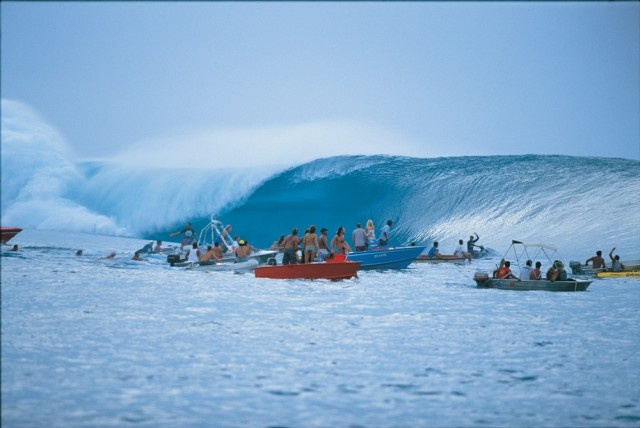 Teahupoo viem from the canal
