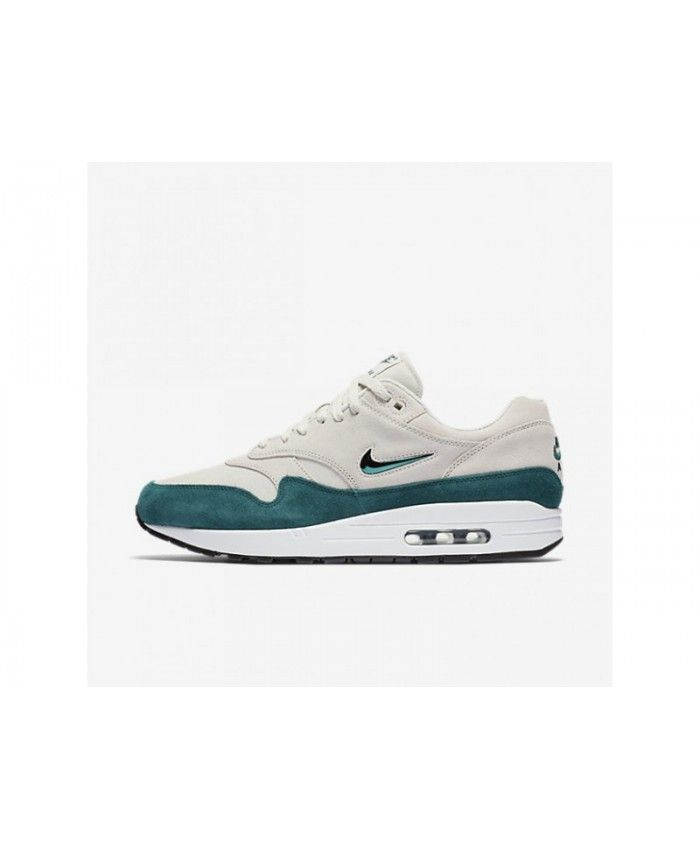 d2fe98aac330 Very Nice Nike Air Max 1 Premium SC Men s Light Bone White Black Dark  Atomic Teal Shoes