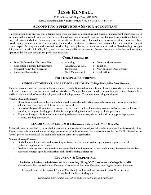 Senior Accountant Resume Format - http://www.resumecareer.info/senior-accountant-resume-format-3/