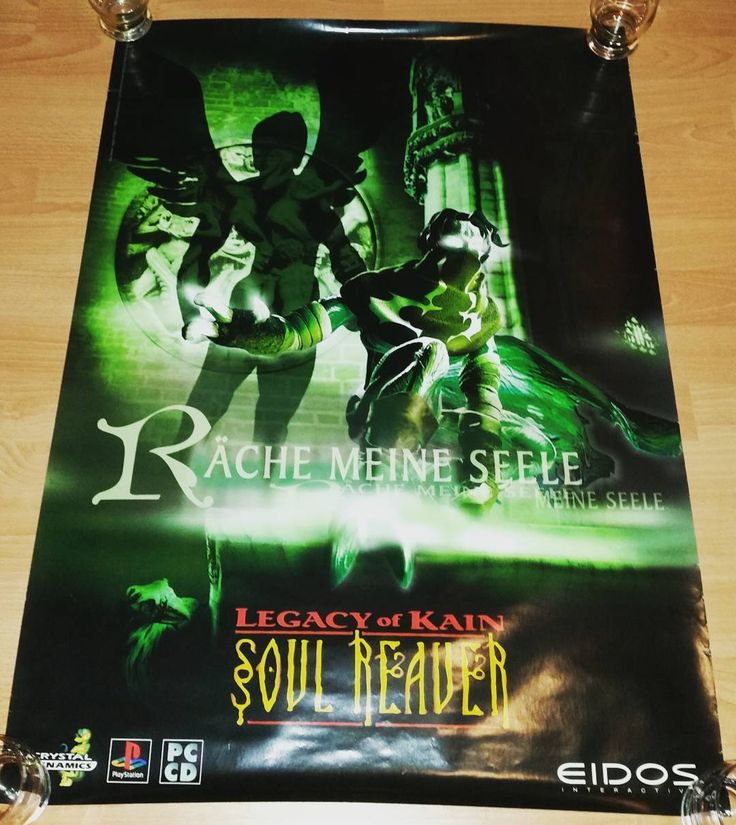 On instagram by retro_rally_rarities #retrogaming #microhobbit (o) http://ift.tt/2pa5vwt official wonderful poster of soul reaver  #soulreaver #eidos #playstation #psx #pc #poster #instagamer  #poster #promo #storepromo #crystaldynamics #soul