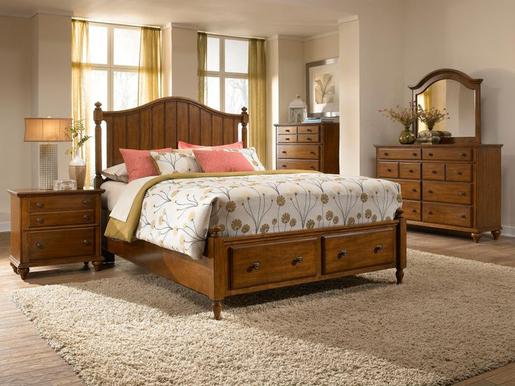 Hayden place king headboard and storage footboard panel - Broyhill hayden place bedroom set ...
