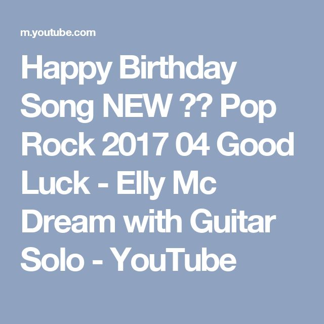 Geburtstag lied pop