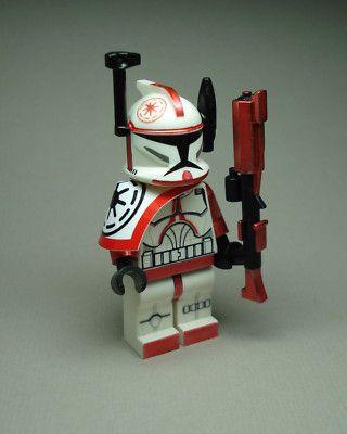 Lego Star Wars Clone Trooper Commander Arc Red Fox MIN Figure Custom | eBay