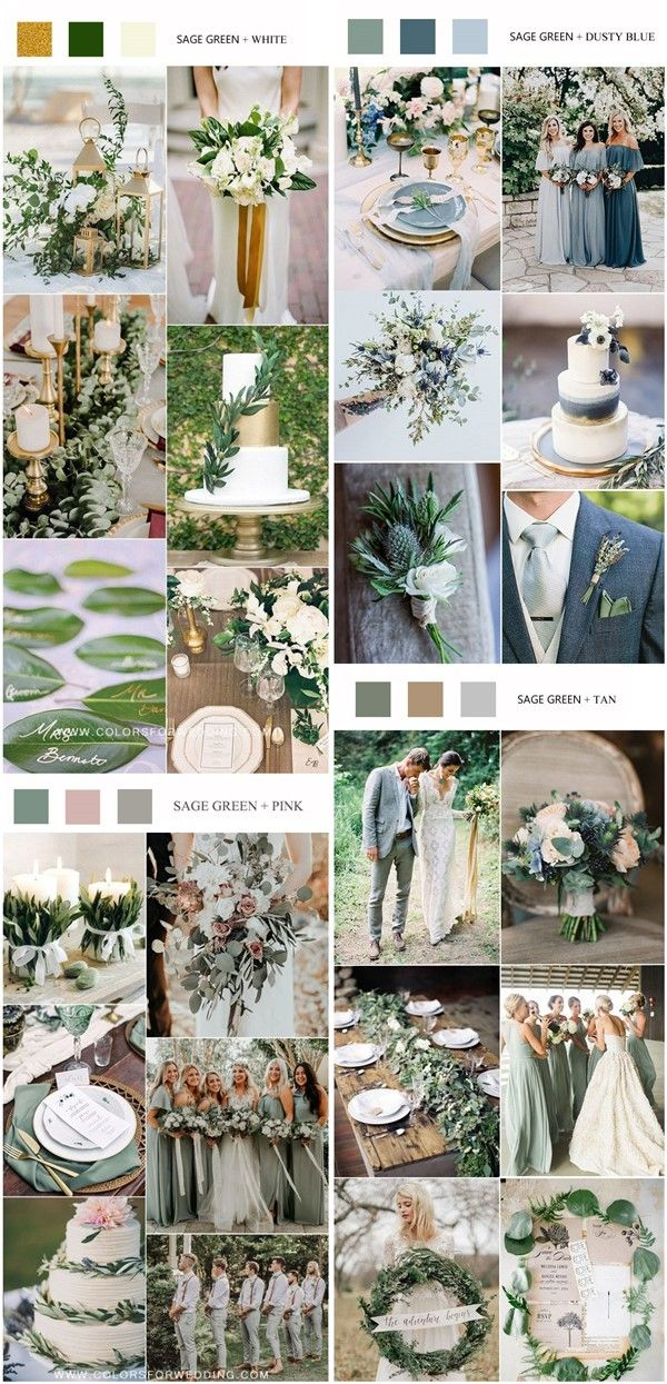 Top 8 Green Wedding Color Palettes You Ll Love Green Wedding Colors Wedding Colors Tan Wedding Colors