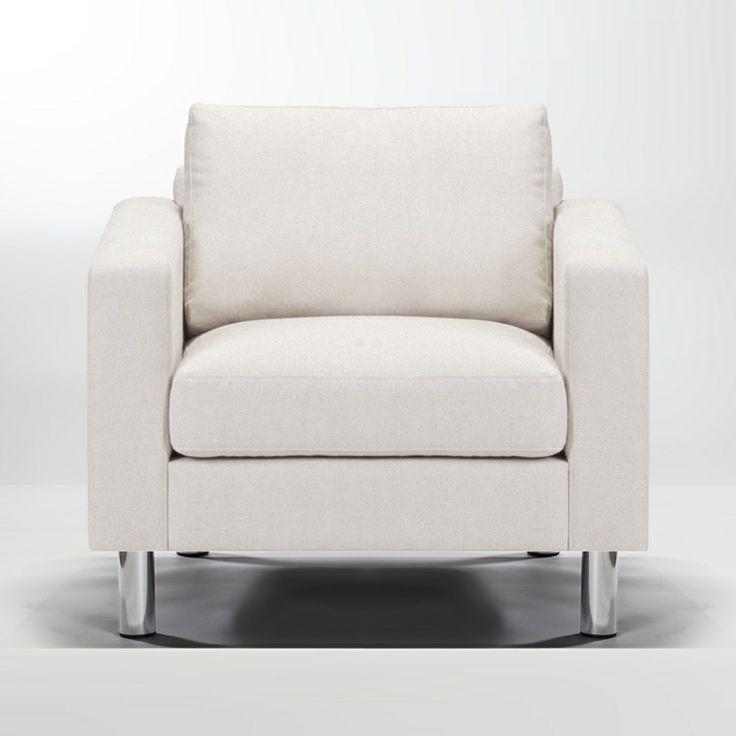 Ving Lenestol Geneva Linen beige, Sjøfuglfjær Formaterial - Kjøp møbler online på ROOM21.no