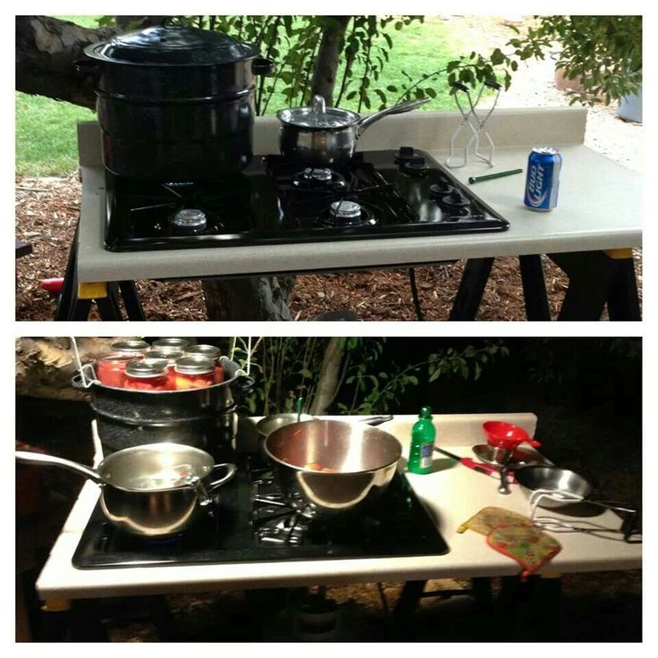 Outdoor canning station | Outdoor Kitchen | Pinterest ...