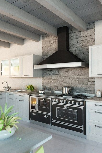 Stone Splashback - Kitchen Design Ideas & Pictures – Decorating Ideas (houseandgarden.co.uk)