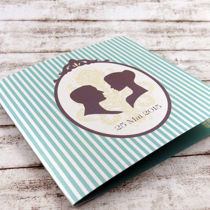 Invitaţie de nuntă Victoriană albastră http://designbyclarice.ro/