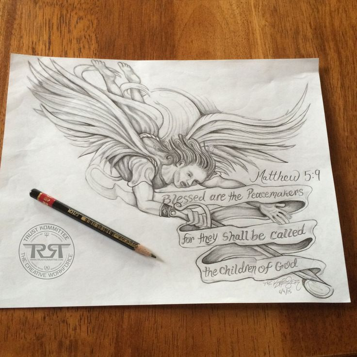 another tattoo design done which incorporated saint michael and the verse from matthew 5 9. Black Bedroom Furniture Sets. Home Design Ideas