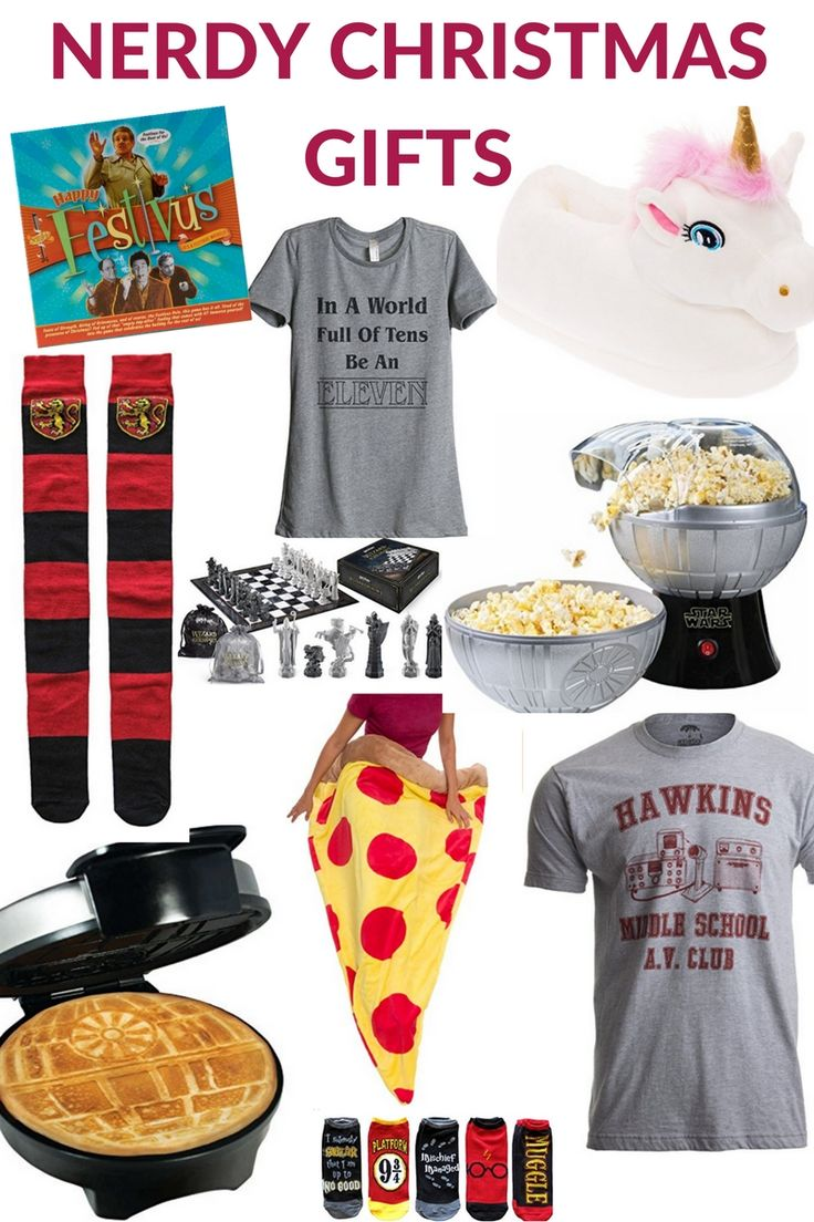 Seinfeld Festivus, Stranger Things, Unicorn Slippers, Pizza Sleeping Bag, Star Wars Waffle Maker Popcorn Maker, Wizard's Chess, Gryffindor - Fun, Nerdy and Unique Gift Ideas for teens, women and for him! #stockingstuffers #christmasgifts #Christmasgifts #christmasgiftsideas #ChristmasGiftIdeas #christmasgiftguide #ChristmasGift2017 #ad #harrypottergifts #starwarsgift #strangerthings #strangerthings2 #unicorngifts
