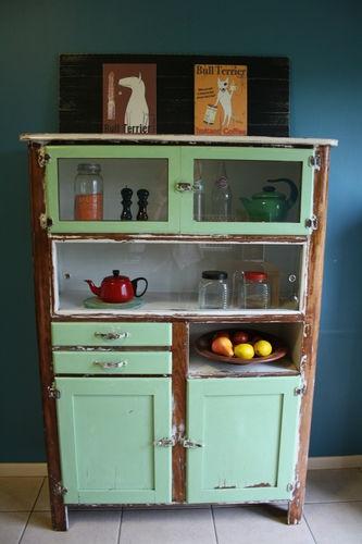 Antique Vintage Kitchen Hutch Buffet Sideboard Dresser, Retro Industrial  Design