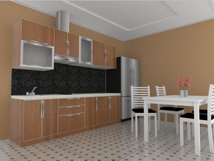 desain dapur plus taman
